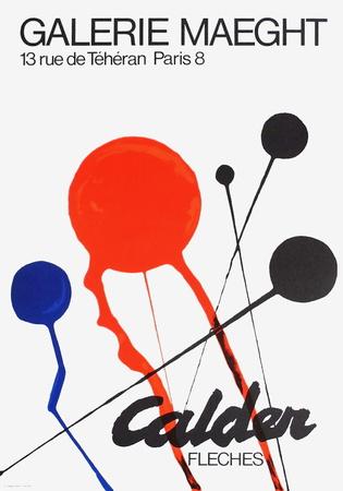 Expo Fleches Collectable Print by Alexander Calder