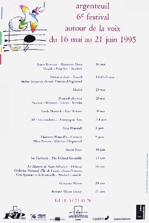 Festival D'Argenteuil Serigraph by André François