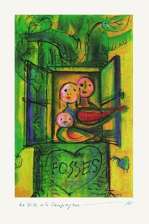 Fosses La Ville À La Campagne Collectable Print by André François