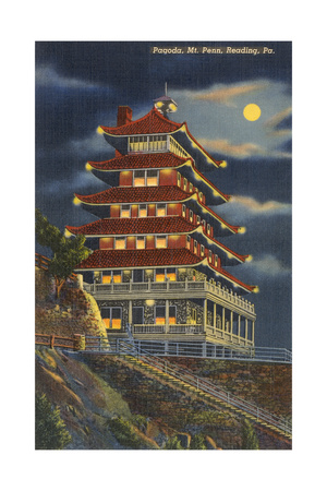 Pagoda, Mt. Penn, Reading Print