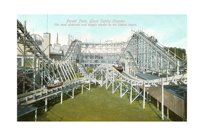 Forest Park Roller Coaster Posters