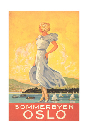 Oslo Travel Poster Poster