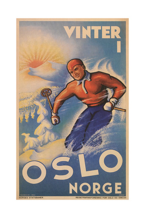 Skiing in Oslo, Norway Posters