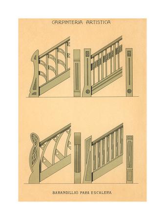Artistic Carpentry, Stair Rails Prints