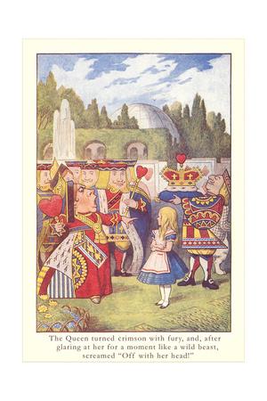 Alice in Wonderland, Queen of Hearts Prints