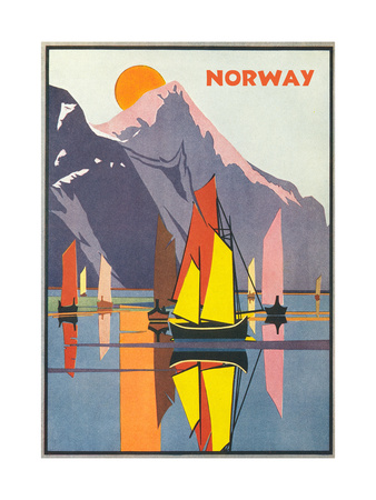 Travel Poster for Norway Prints