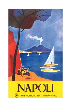 Travel Poster for Naples Plakat