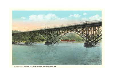 Strawberry Bridge and Boathouse, Philadelphia Prints