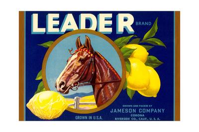 Leader Lemon Label Prints
