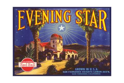 Evening Star Lemon Label Prints
