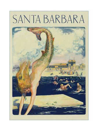 Travel Poster with Mermaid Posters