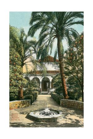 Alcazar Gardens, Seville, Spain Posters