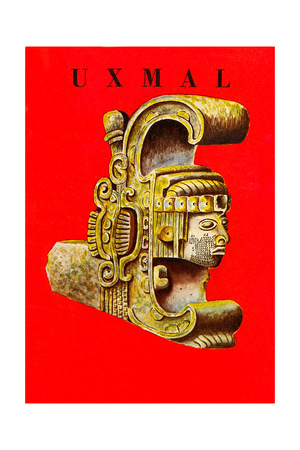 Uxmal, Mexican Travel Poster Posters