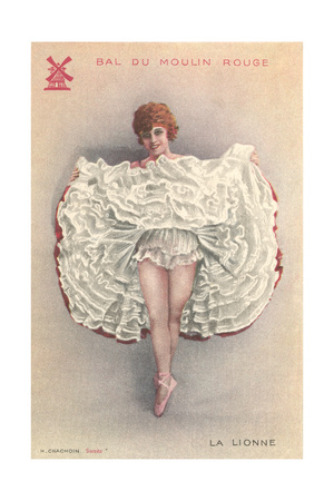 French Can-Can Dancer Posters