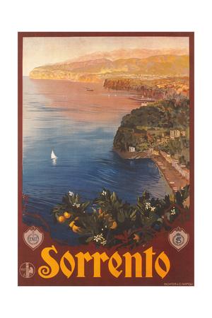 Travel Poster for Sorrento Plakater