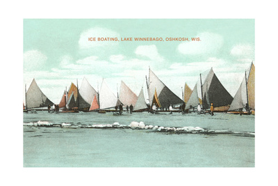 Ice Boating, Lake Winnebago Posters