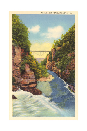 Fall Creek Gorge, Ithaca Posters