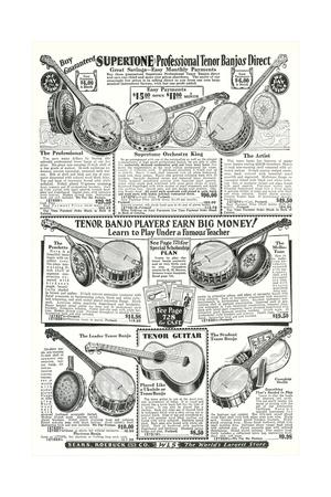 Guitar and Banjo Catalog Prints