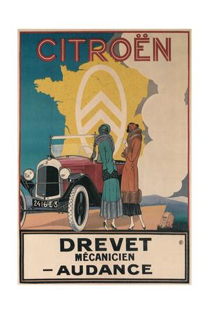 Ad for Twenties Citroen Prints
