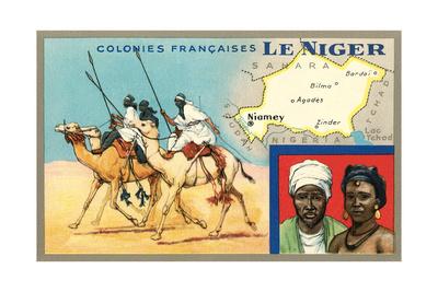 Map of Niger Plakat
