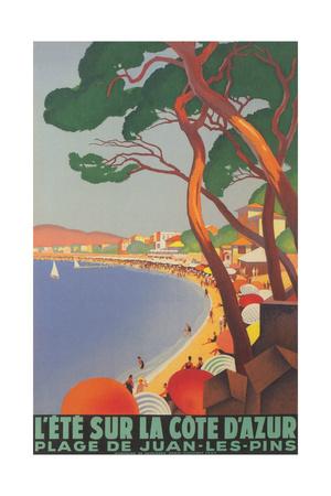 Summer on the Cote D'Azur Prints