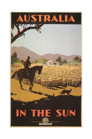 Australia Travel Poster, Sheep Posters