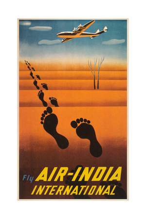 Air India Travel Poster Prints