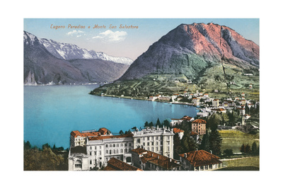 Paradiso, Lake Lugano, Switzerland Print