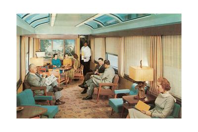 Luxury Lounge Car on Train Láminas