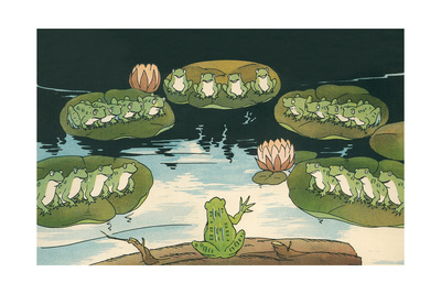 Frog Leading Swamp Chorus Posters