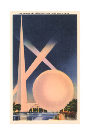 Trylon and Perisphere, Worlds Fair Pósters