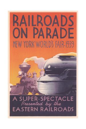 World's Fair Railroad Show Lámina