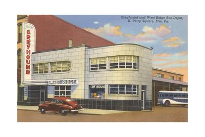Greyhound Bus Terminal, Erie Art