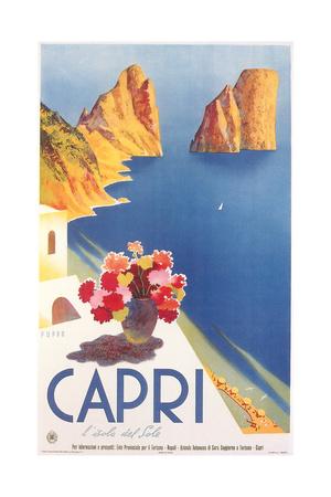 Travel Poster for Capri Plakater