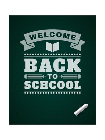 Back to School Message on Blackboard Art by  VikaSuh