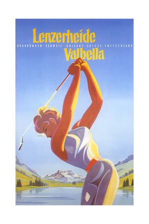 Golfing in Switzerland Posters