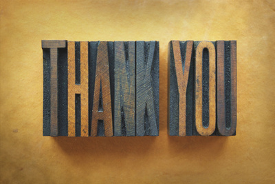 Thank You Photographic Print by  enterlinedesign