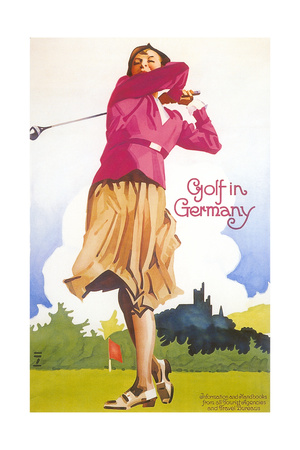 Golfing in Germany Prints