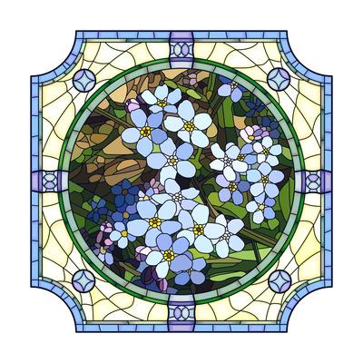 Illustration of Flower Blue Forget-Me-Not Prints by  Vertyr