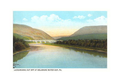 Lacakawanna Cutoff, Delaware Water Gap Print