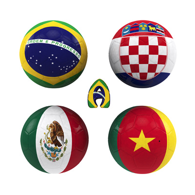 A Group of the World Cup Prints by  croreja