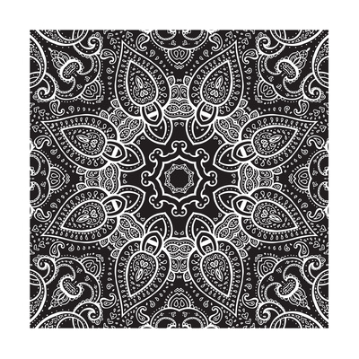 Lace Background: White on Black, Mandala Posters by  Katyau