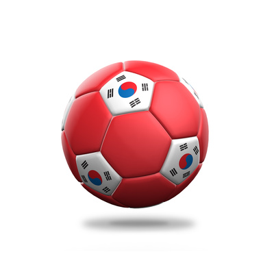 South Korea Soccer Ball Prints by  pling