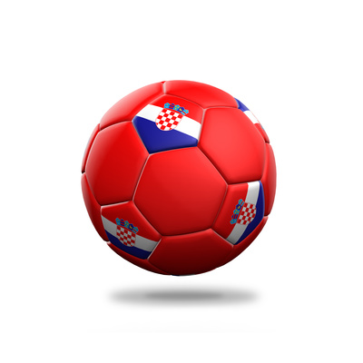 Croatia Soccer Ball Posters by  pling