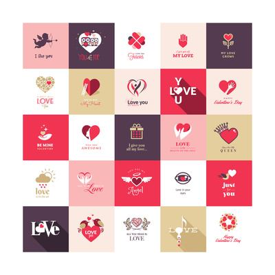 Big Set of Icons for Valentines Day Art by  PureSolution