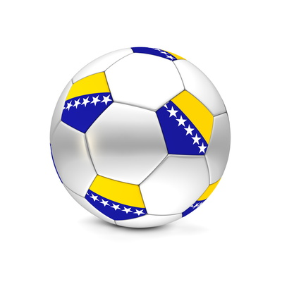 Soccer Ball/Football Bosnia and Herzegovina Poster by  PixBox