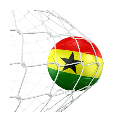 Ghanaian Soccer Ball in a Net Poster by  zentilia