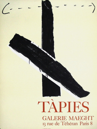Expo Galerie Maeght 67 Collectable Print by Antoni Tapies