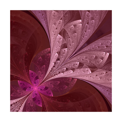 Beautiful Fractal Flower in Vinous and Purple Posters by  velirina