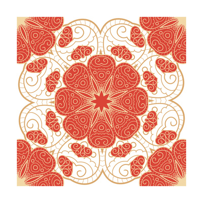 Bright Lace Pattern Poster by  elein